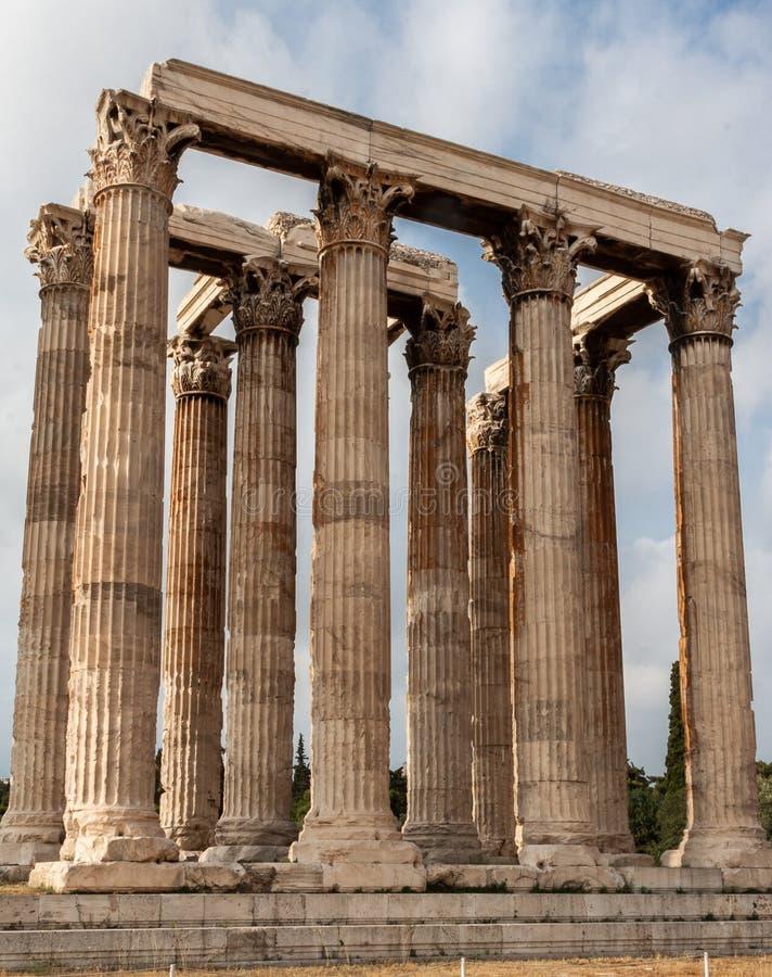 Temple de Zeus Athens olympien images stock