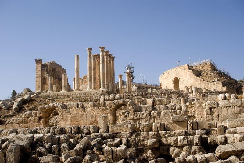 Temple de Zeus, Jerash, Jordanie photo stock