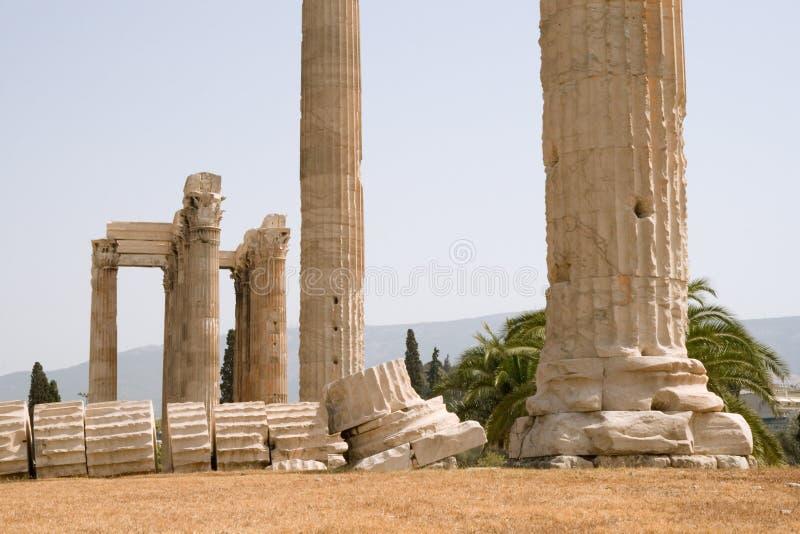 Temple De Zeus Olympique à Athènes Photo stock