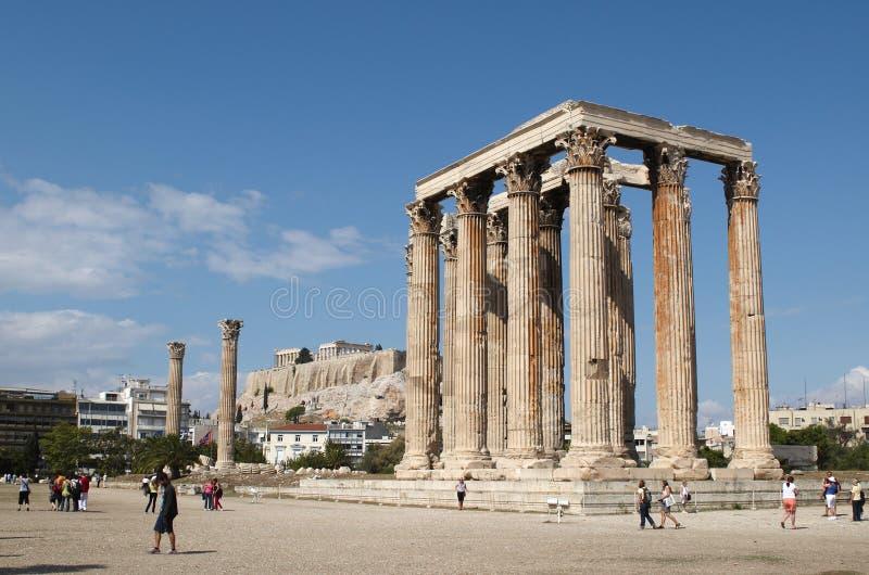 Temple de Zeus olympique photographie stock libre de droits