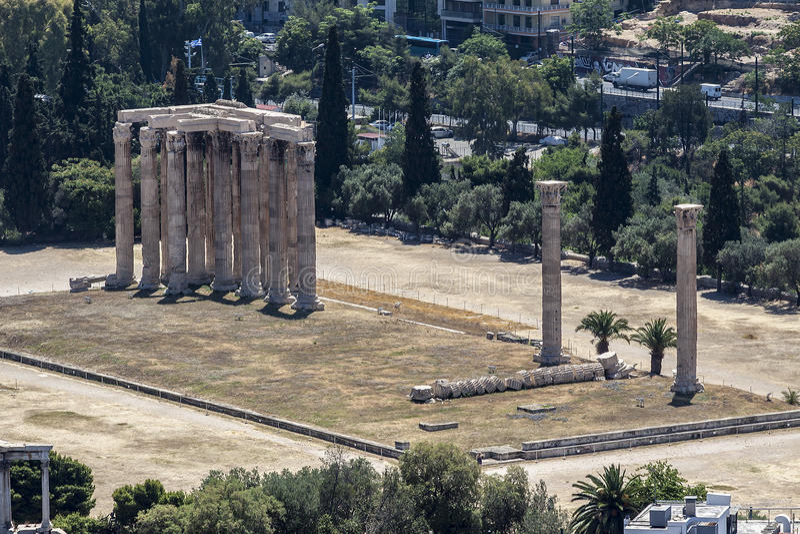 Temple de Zeus olympique Athènes photos stock
