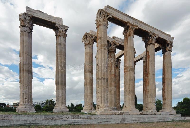 Temple de Zeus olympique, Athènes, Grèce photographie stock libre de droits