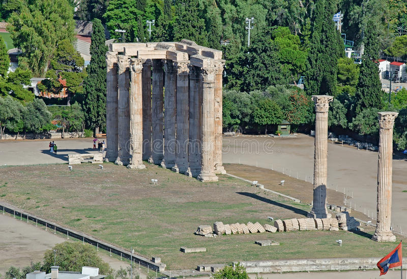 Temple de Zeus olympique, Athènes, Grèce image stock