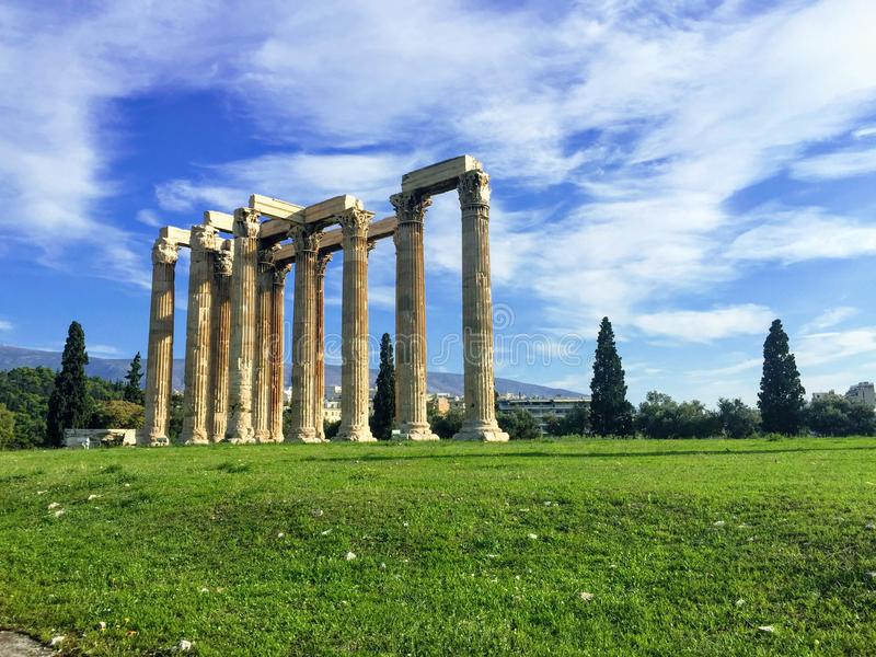 Temple de Zeus olympique images libres de droits