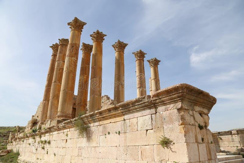 Temple de Zeus, ville jordanienne de Jerash (Gerasa de l'antiquité), Jordanie photos libres de droits