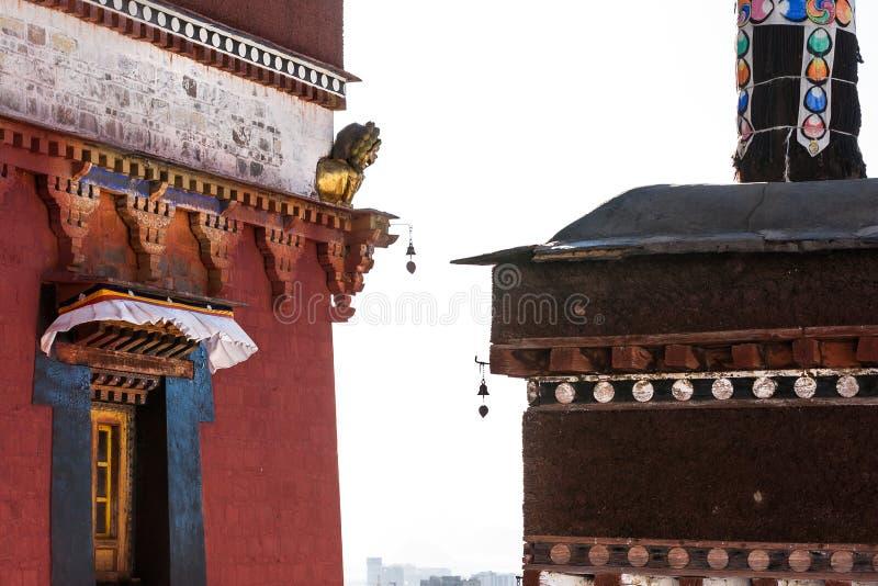 Temple de Zhashilunbu, Thibet, Chine images libres de droits