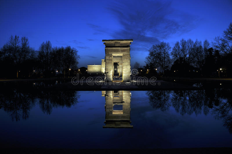 Download Temple of Debod stock photo. Image of culture, dusk, madrid - 22227792