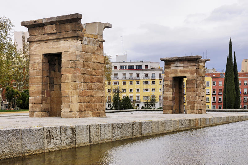 Temple of Debod, Madrid stock image