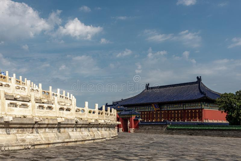 Huanggan Temple, Temple of Heaven, China. A temple dedicated to the `God of God` and the Emperor`s ancestral gods royalty free stock photography