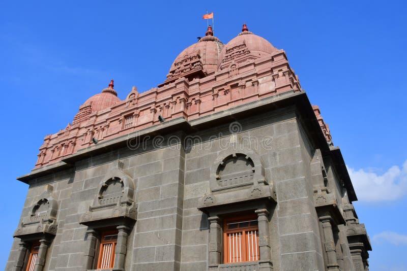 Temple dedicated to Swami Vivekananda, national hero of India. Kanyakumari, Cape Komorin in Tamil Nadu, or Tamil Nadu at the south. Ernmost point of the Indian royalty free stock photo