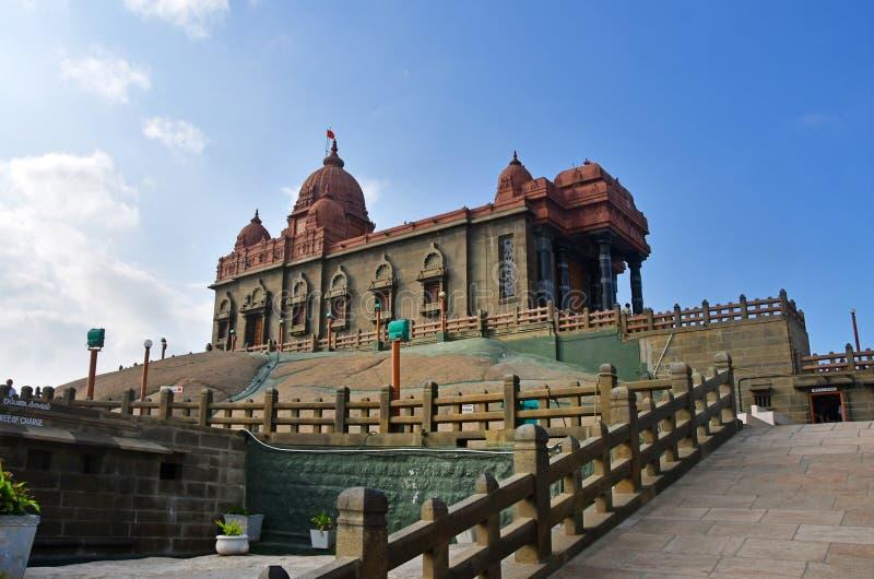 Temple dedicated to Swami Vivekananda, national hero of India. Kanyakumari, Cape Komorin in Tamil Nadu, or Tamil Nadu at the south. Ernmost point of the Indian royalty free stock photography