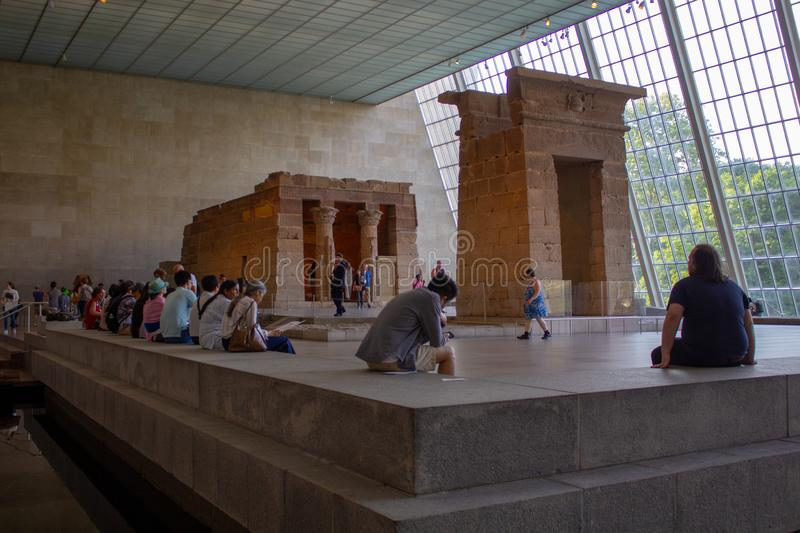 The Temple of Dendur in Metropolitan Museum of Art. Egypt Temple. stock image