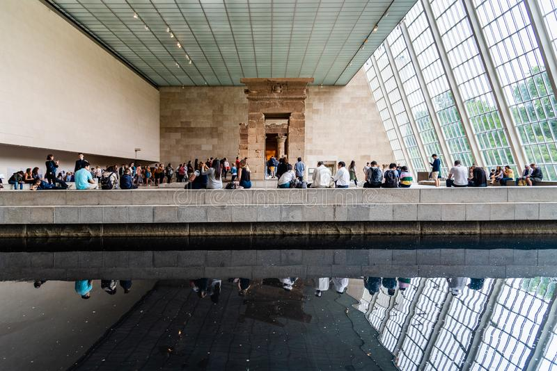 The Temple of Dendur in the Metropolitan Museum of New York stock photography