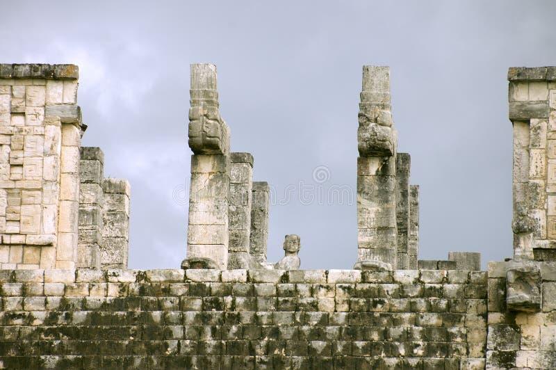 Temple des guerriers images libres de droits