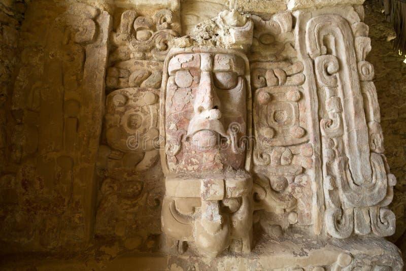 Temple des masques chez Kohunlich Mexique photographie stock