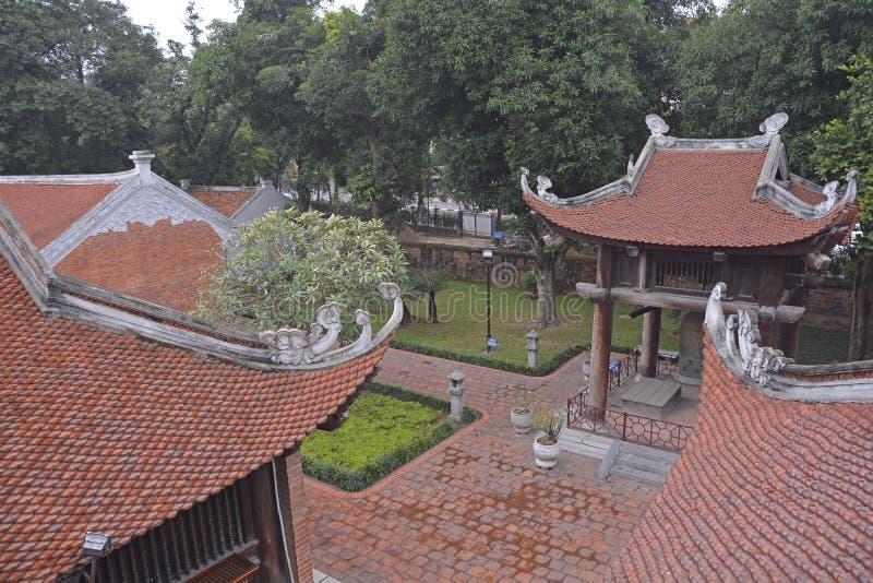 Temple des toits de littérature image libre de droits