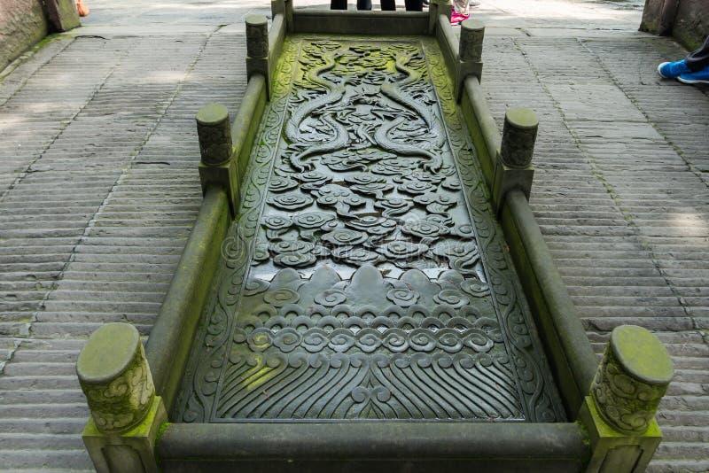Temple des traînées de découpage en pierre de marquis image stock