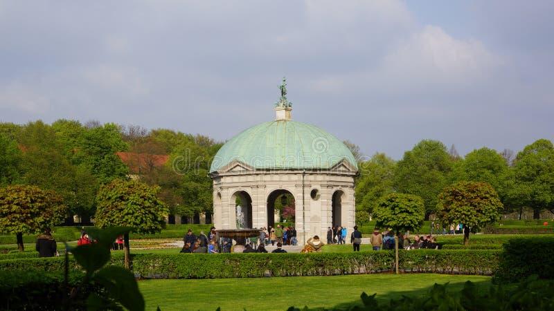 temple of diana english garden royal park munich bavaria royalty free stock photography