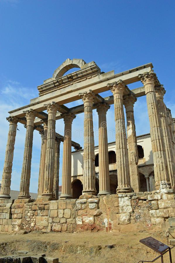 Temple of Diana, Merida Spain stock photo