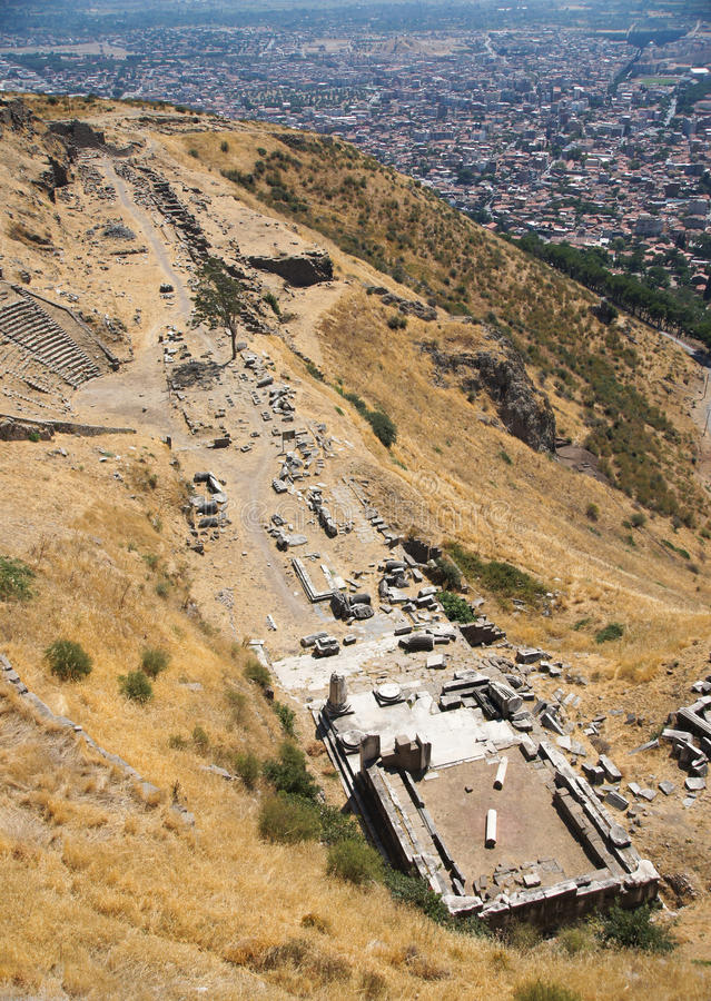 The Temple of Dionysus in Pergamon, Turkey royalty free stock images