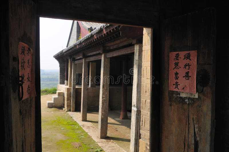 Download Temple door stock image. Image of rafters, tile, couplets - 26606853