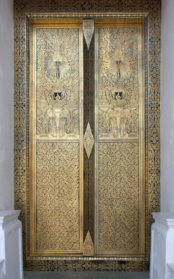 Temple doors royalty free stock images