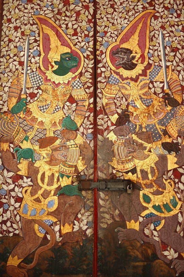 Temple doors stock photos