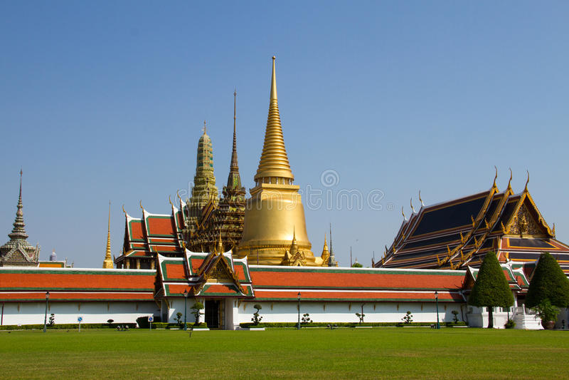 Temple du Bouddha vert image libre de droits