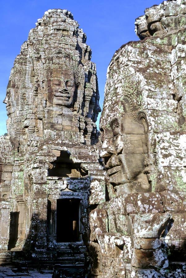 temple du Cambodge de bayon images stock