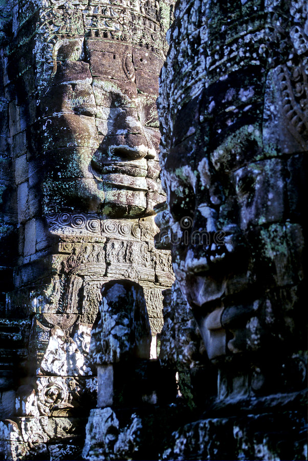 temple du Cambodge de bayon photographie stock