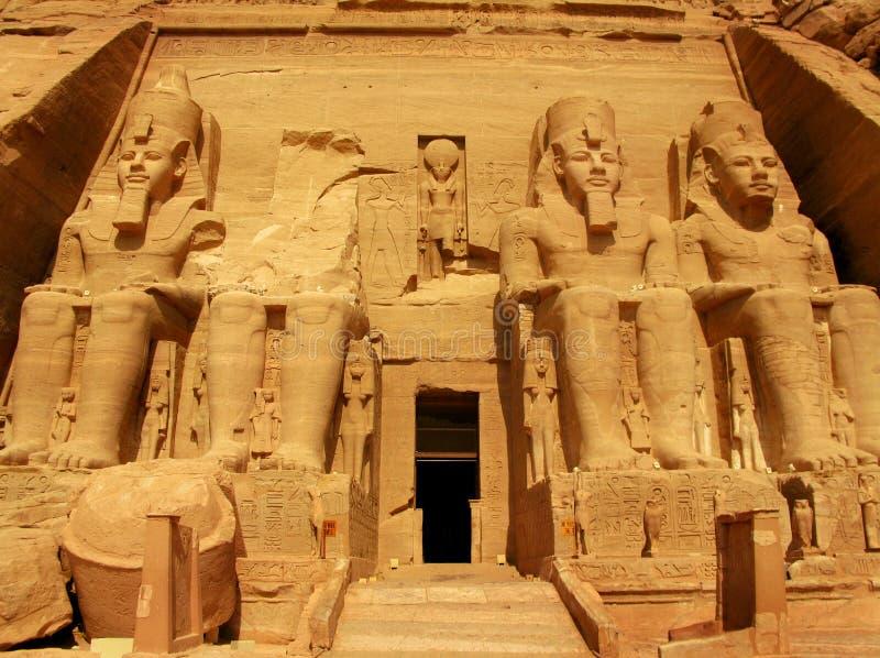 Temple du pharaon Ramses II dans Abu Simbel, Egypte photos stock