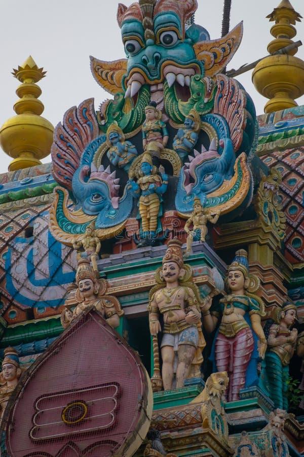 Temple du sud de l'Inde Madurai Thiruparankundram Murugan images stock
