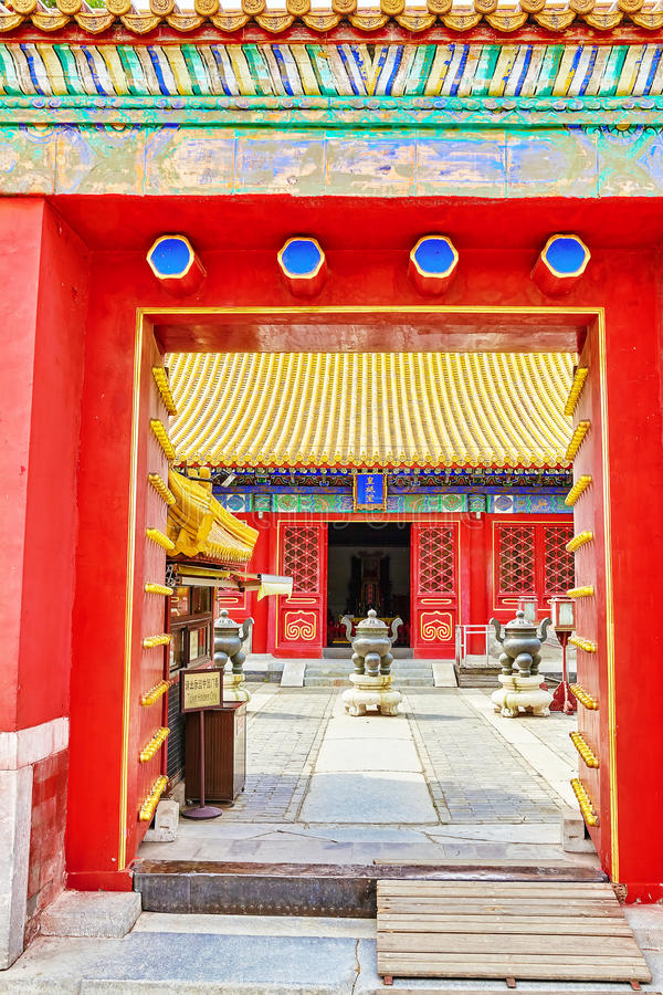Temple of Earth (also referred to as the Ditan Park), Beijing.In. Scription means (translation) Star gate, China stock photos