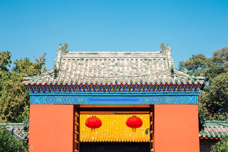 Temple of Earth, Ditan Park in Beijing, China. Temple of Earth, Ditan Park at Beijing, China royalty free stock photo