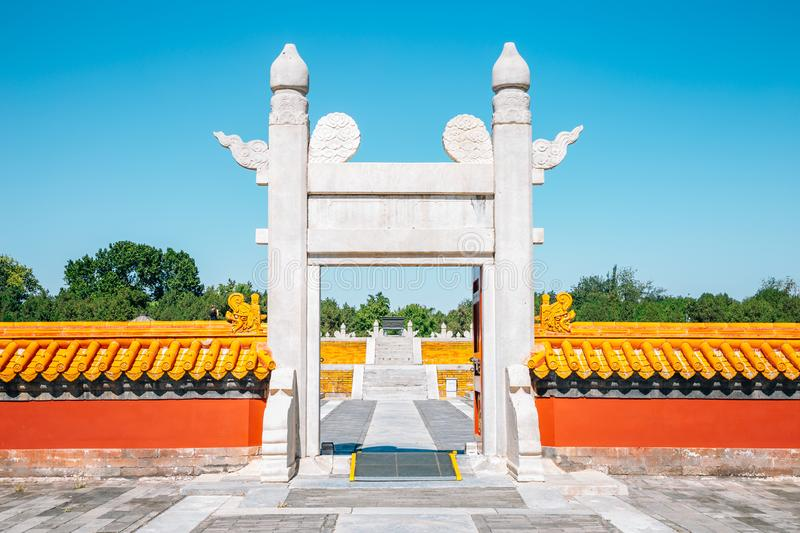 Temple of Earth, Ditan Park in Beijing, China. Temple of Earth, Ditan Park at Beijing, China stock photos