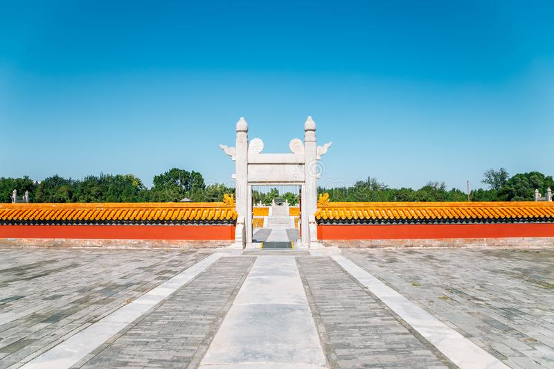 Temple of Earth, Ditan Park in Beijing, China. Temple of Earth, Ditan Park at Beijing, China stock photo