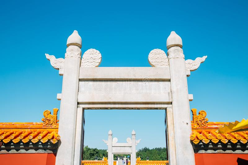 Temple of Earth, Ditan Park in Beijing, China. Temple of Earth, Ditan Park at Beijing, China royalty free stock images