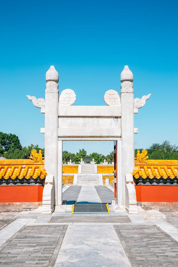 Temple of Earth, Ditan Park in Beijing, China. Temple of Earth, Ditan Park at Beijing, China stock images