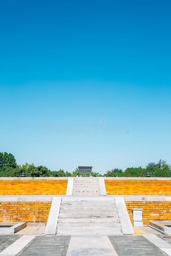 Temple of Earth, Ditan Park in Beijing, China. Temple of Earth, Ditan Park at Beijing, China royalty free stock image