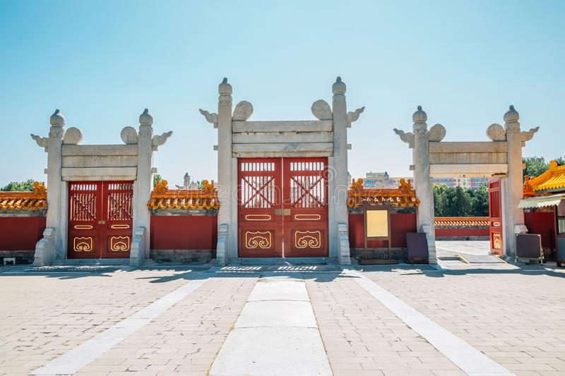 Temple of Earth, Ditan Park in Beijing, China. Temple of Earth, Ditan Park at Beijing, China royalty free stock photography