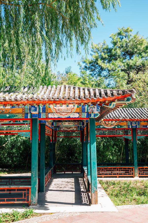 Temple of Earth, Ditan Park, Chinese traditional garden in Beijing, China. Temple of Earth, Ditan Park, Chinese traditional garden at Beijing, China royalty free stock image