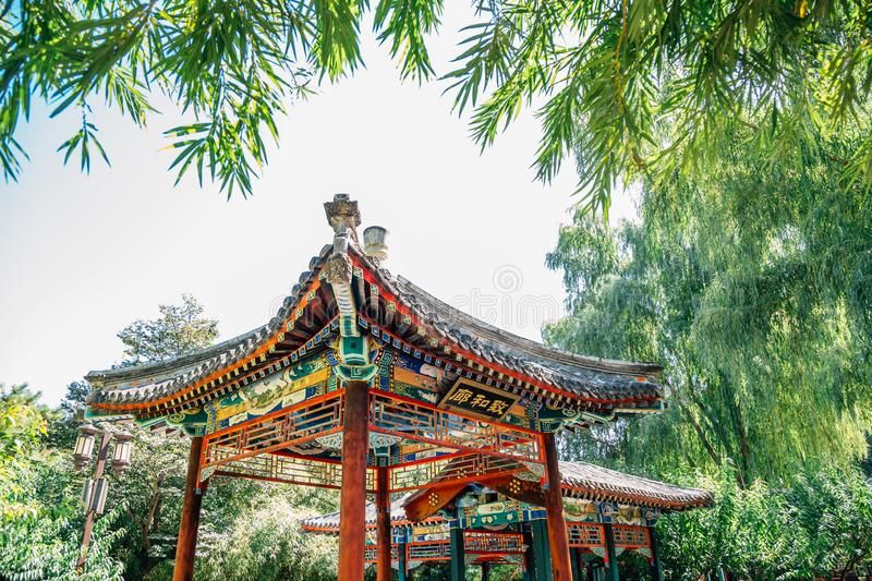 Temple of Earth, Ditan Park, Chinese traditional garden in Beijing, China. Temple of Earth, Ditan Park, Chinese traditional garden at Beijing, China stock image