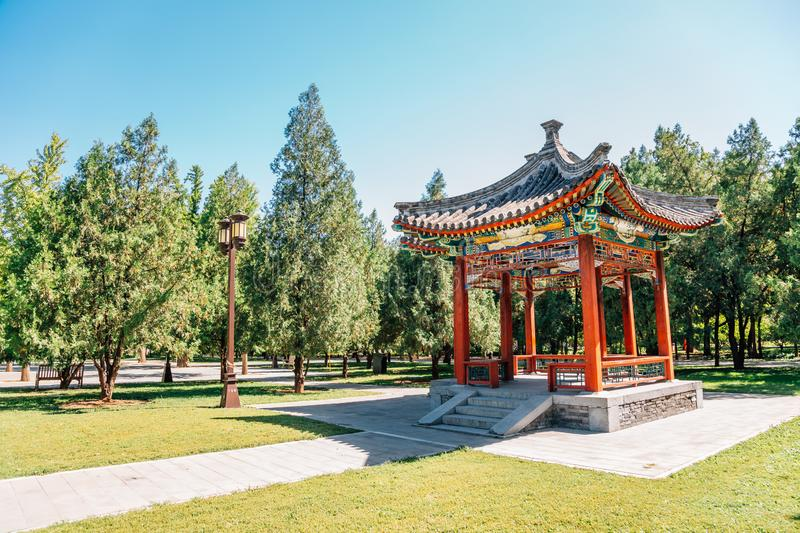 Temple of Earth, Ditan Park, Chinese traditional garden in Beijing, China. Temple of Earth, Ditan Park, Chinese traditional garden at Beijing, China royalty free stock photo