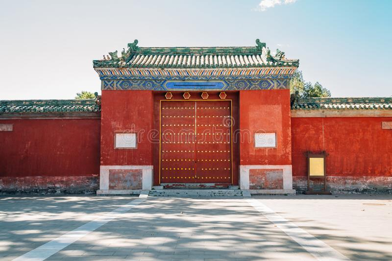 Temple of Earth, Ditan Park, Chinese traditional garden in Beijing, China. Temple of Earth, Ditan Park, Chinese traditional garden at Beijing, China stock photo