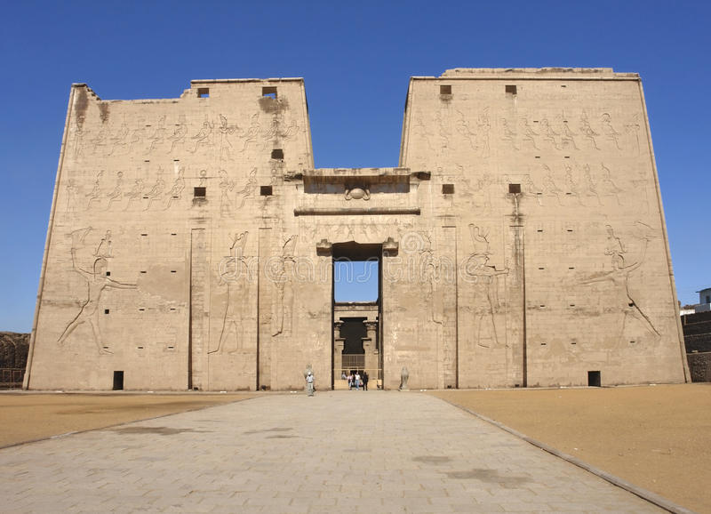 Temple of Edfu stock photo