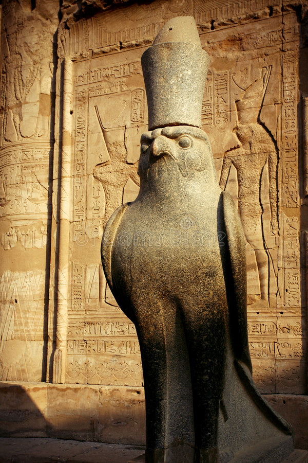 Temple in Egypt stock photography