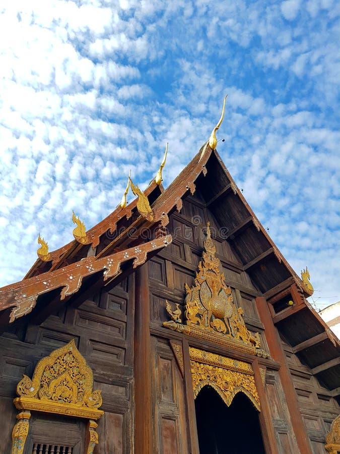Temple en bois image libre de droits