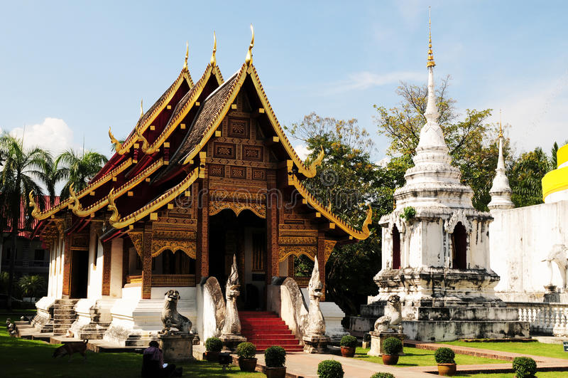 Temple en Chiang Mai images libres de droits