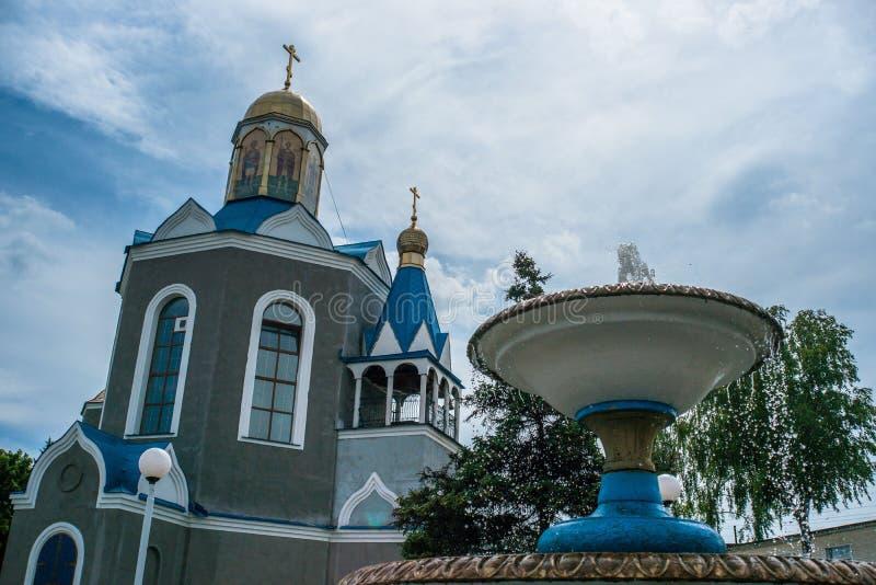 Temple en l'honneur de la mère du ` de Bush brûlant de ` de Dieu dans la ville de Dyadkovo, région de Bryansk de la Russie photographie stock libre de droits