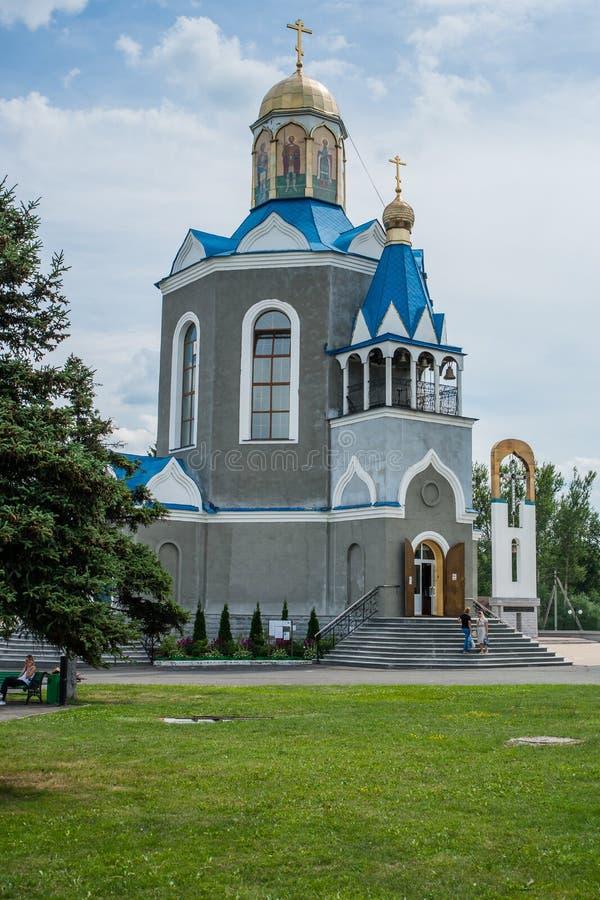 Temple en l'honneur de la mère du ` de Bush brûlant de ` de Dieu dans la ville de Dyadkovo, région de Bryansk de la Russie photographie stock
